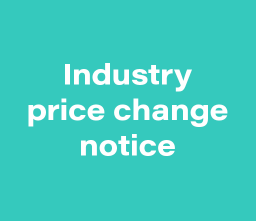 Industry price change notification