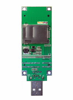 10609 mPCIe to USB adapter card Back