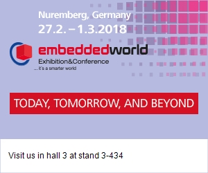 Join us at Embedded World 2018 in Nuremberg